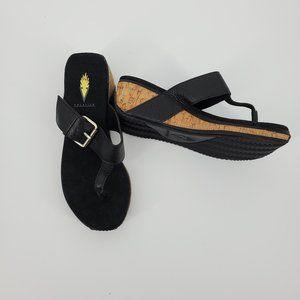 Volatile Thong Wedge Sandals Sz 7